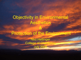 Objectivity in Environmental Aesthetics and Protection of