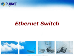 Sales Guide for Ethernet Switch