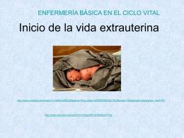 Inicio de la vida extrauterina