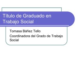 Grado en Trabajo Social de la Universidad de Zaragoza