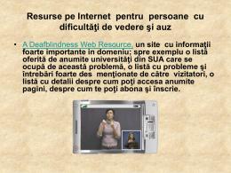Resurse pe Internet pentru persoane cu dificultăţi de