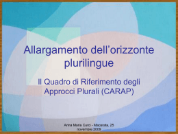 Allargamento dell'orizzonte plurilingue