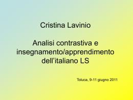 Analisi contrastiva e insegnamento/apprendimento dell
