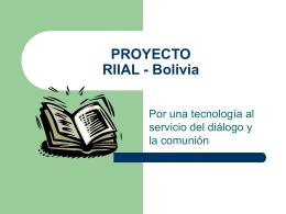 RIIAL - Bolivia