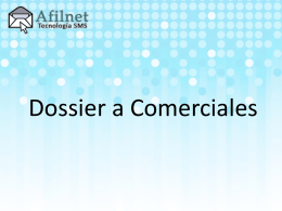 Dossier a Comerciales