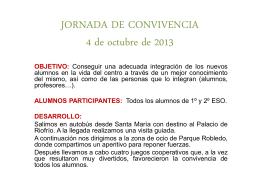 JORNADA DE CONVIVENCIA 4 de octubre de 2013