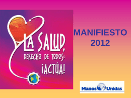MANIFIESTO 2011