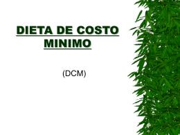 DIETA DE COSTO MINIMO