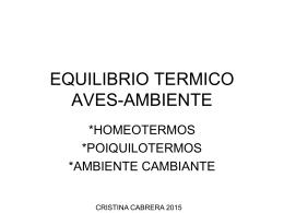 EQUILIBRIO TERMICO AVES