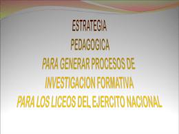MODELO PEDAGOGICO DE PRODUCCION INVESTIGATIVA