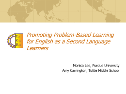 Promoting Problem-Based Learning for English as a …