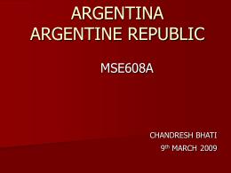 ARGENTINA ARGENTINE REPUBLIC