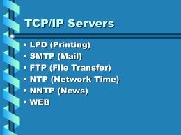 TCP/IP Servers