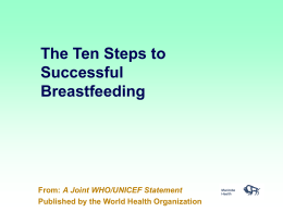 The Ten Steps to Successful Breastfeeding