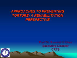 Challenges of torture survivors in receiving socio