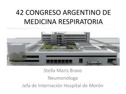 42 CONGRESO ARGENTINO DE MEDICINA RESPIRATORIA