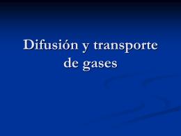 Difusion y transporte de gases