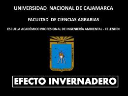EFECTO INVERNADERO - Universidad Nacional de Cajamarca