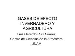 GASES DE EFECTO INVERNADERO Y AGRICULTURA