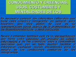 IMPORTANCIA DEL CONOCIMIENTO Y CREENCIAS, USOS, …