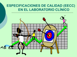 ESPECIFICACIONES DE CALIDAD EN EL LABORATORIO …