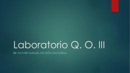 Laboratorio Q. O. III