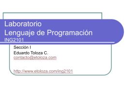 Laboratorio Lenguaje de Programacion ING2101