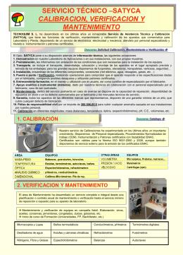 SERVICIO DE MANTENIMIENTO CALIBRACION DE …