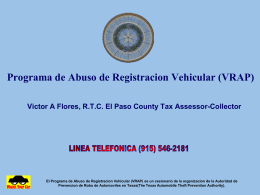 Vehicle Registration Abuse Program