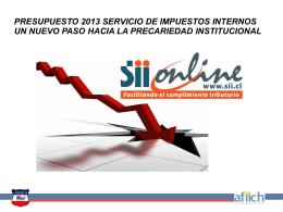 PRESUPUESTO 2013 SERVICIO DE IMPUESTOS INTERNOS …
