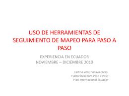 USO DE HERRAMIENTAS DE SEGUIMIENTO DE MAPEO …