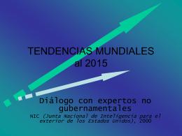 TENDENCIAS MUNDIALES al 2015