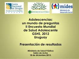 Encuesta Mundial de Salud Estudiantil (EMSE), 2012