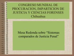 CONGRESO MUNDIAL DE PROCURACION, IMPARTICION …