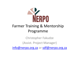 Farmer Training & Mentorship Programme