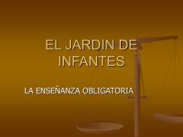 EL JARDIN DE INFANTES