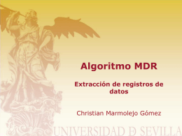 Algoritmo MDR - The Distributed Group