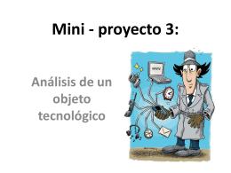 Mini - proyecto 3: