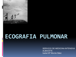 ECOGRAFIA PULMONAR - Complejo Hospitalario …