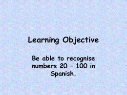 Learning Objective - Westwood Regional School District