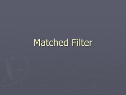 Matched Filter