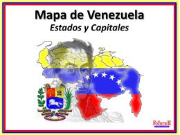 Mapa de Venezuela Estados y Capitales