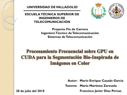 Procesamiento Frecuencial sobre GPU en CUDA para la