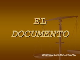 EL DOCUMETNO