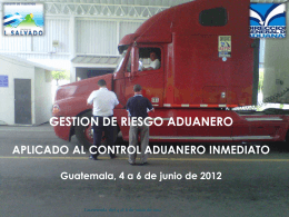 GESTION DE RIESGO ADUANERO - captac