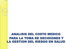 GESTION DE RIESGOS EN SALUD