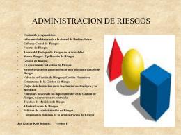 QUE ES RIESGO - Centro Universitario de Oriente :: CUNORI