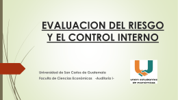 EVALUACION DEL RIESGO Y EL CONTROL INTERNO