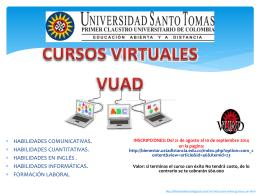 CURSOS VIRTUALES VUAD