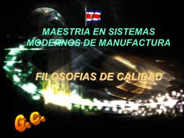 MODELOS Y TEORIAS - GERENCIA DE CALIDAD
